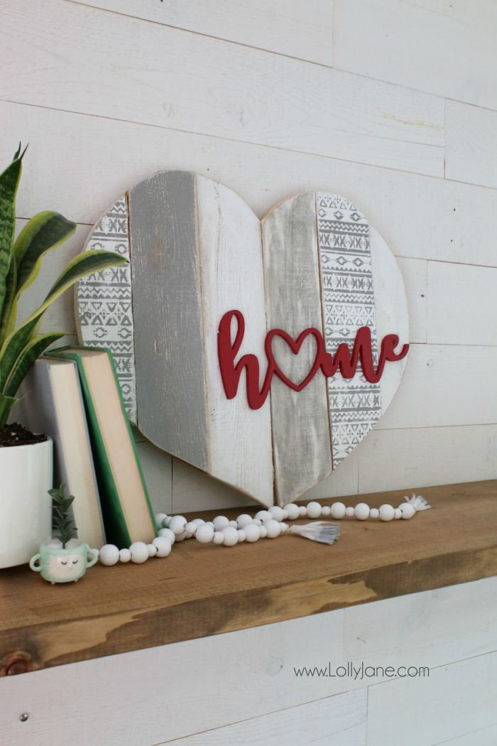 Stenciled signs for home decor