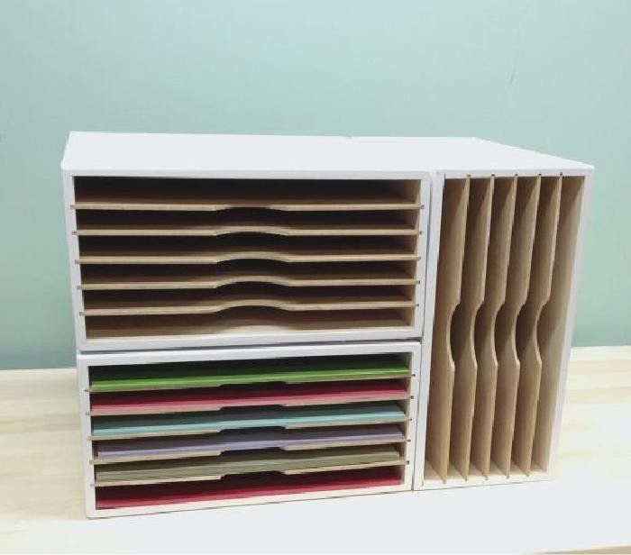 Stackable Paper Organizer Craft Room Ideas Paper