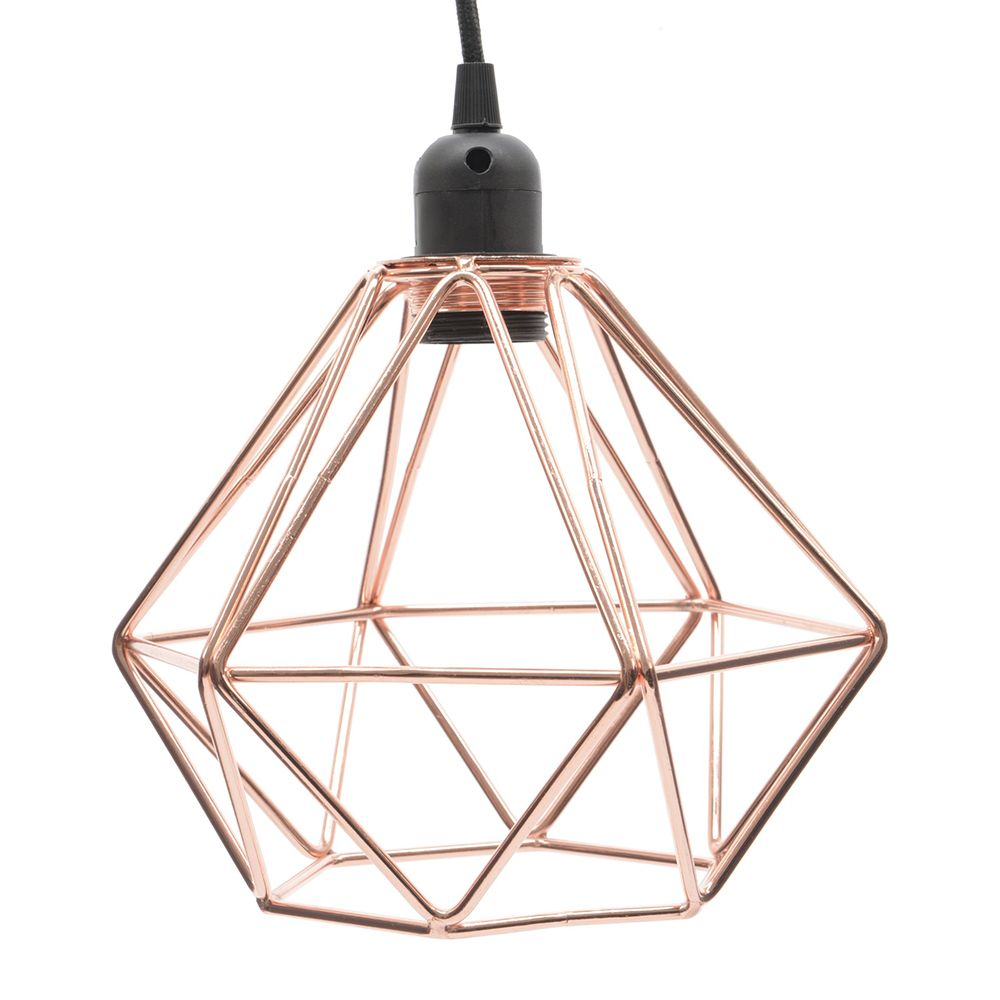 We Love This Industrial Inspired Diamond Shaped Pendant