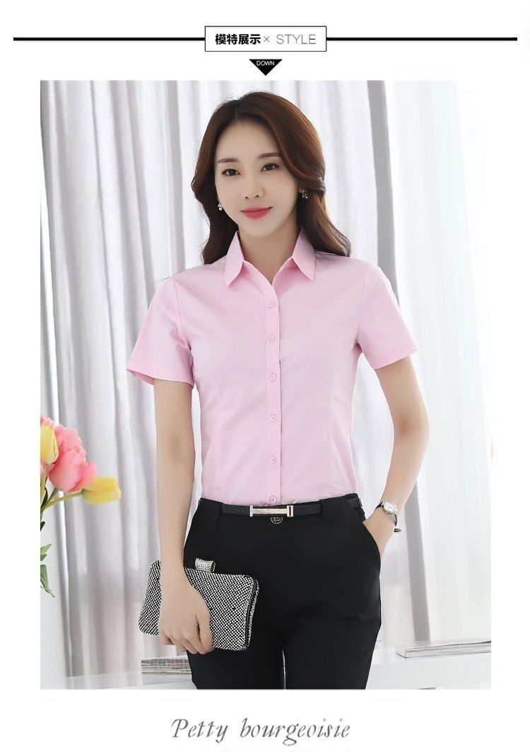 faa7b45435f Women Shirt Blouse Ladies White Pink FA01  shirt  blouse  women   womensfashion  womenswear  womenclothing  womensworkout  clothing   clothingsets  clothes   ...