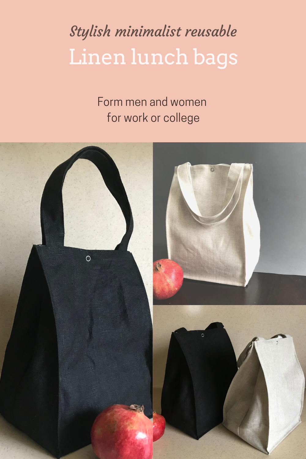 linen lunch bags for women and men in 2021 eco lunch bag lunch bag canvas lunch bag