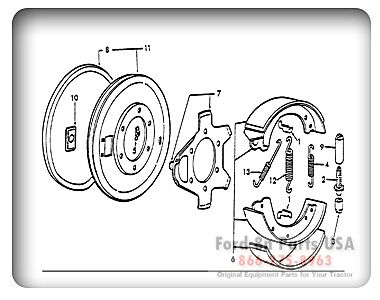 Ford 8N 02A02 Brakes Related Parts 1948 52 8N Ford
