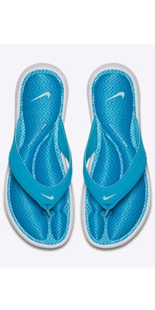 968da03b6a5 Nike Women s Comfort Thong Sandal  Flip-flops with thick straps and  substantial soles are ideal