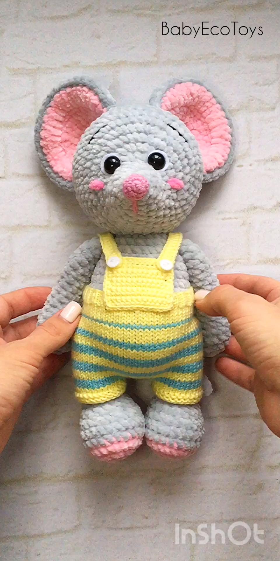 Photo of Amigurumi-Mausspielzeug und Puppe häkeln / Süße Plüschmaus / Plüschtiere