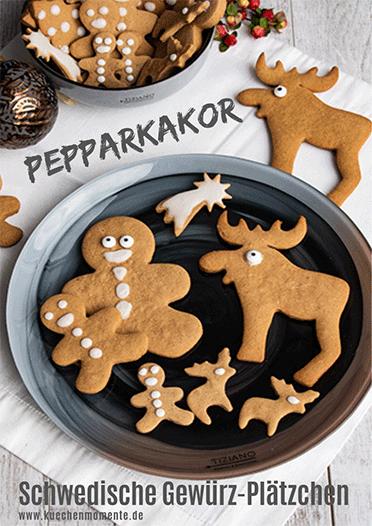 Schwedische Weihnachtsbäckerei – da dürfen die Pepparkakor auf keinen Fall fehlen! #rezept #pepparkakor #geschenkeausderküche #weihnachten #jul #christmas #ausstechplätzchen #plätzchen #gewürzplätzchen #fallrecipesdinner