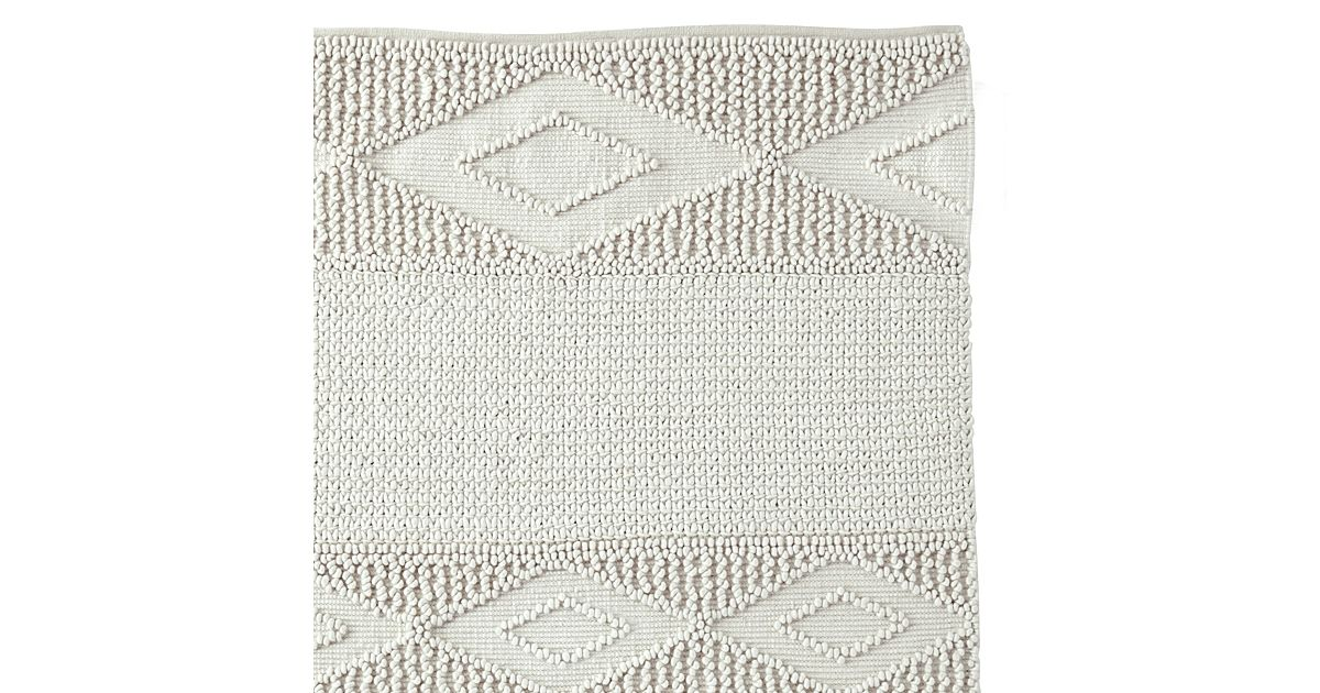 Macramé Wool Rug Ivory Serena & Lily 1,400 for 9x12