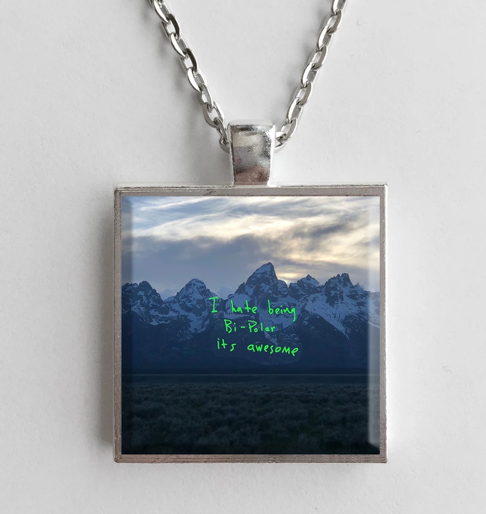 Kanye West Ye Album Cover Art Pendant Necklace Album Cover Art Art Pendant Kanye West Album Cover