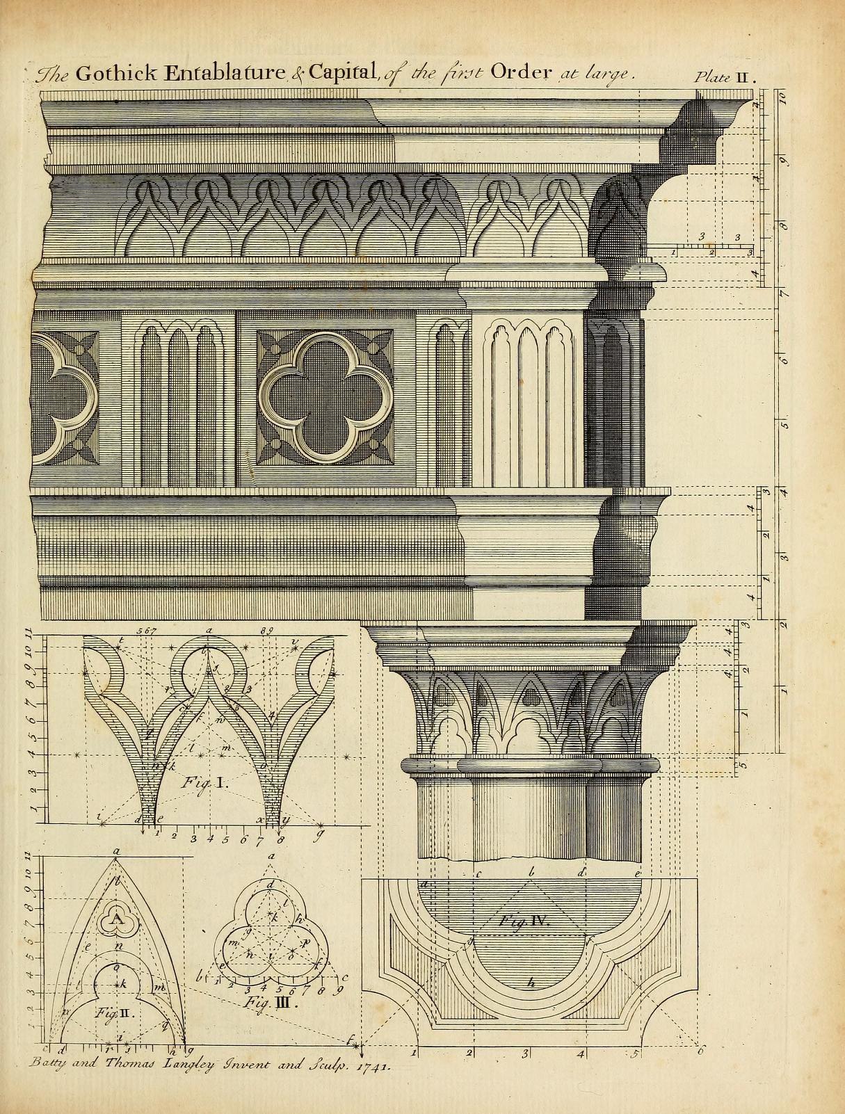 Gothic Order Drawing For Entablature And Capital · Klassische  ArchitekturEntwurfZeichenSkizzenKreativZeichungen ...