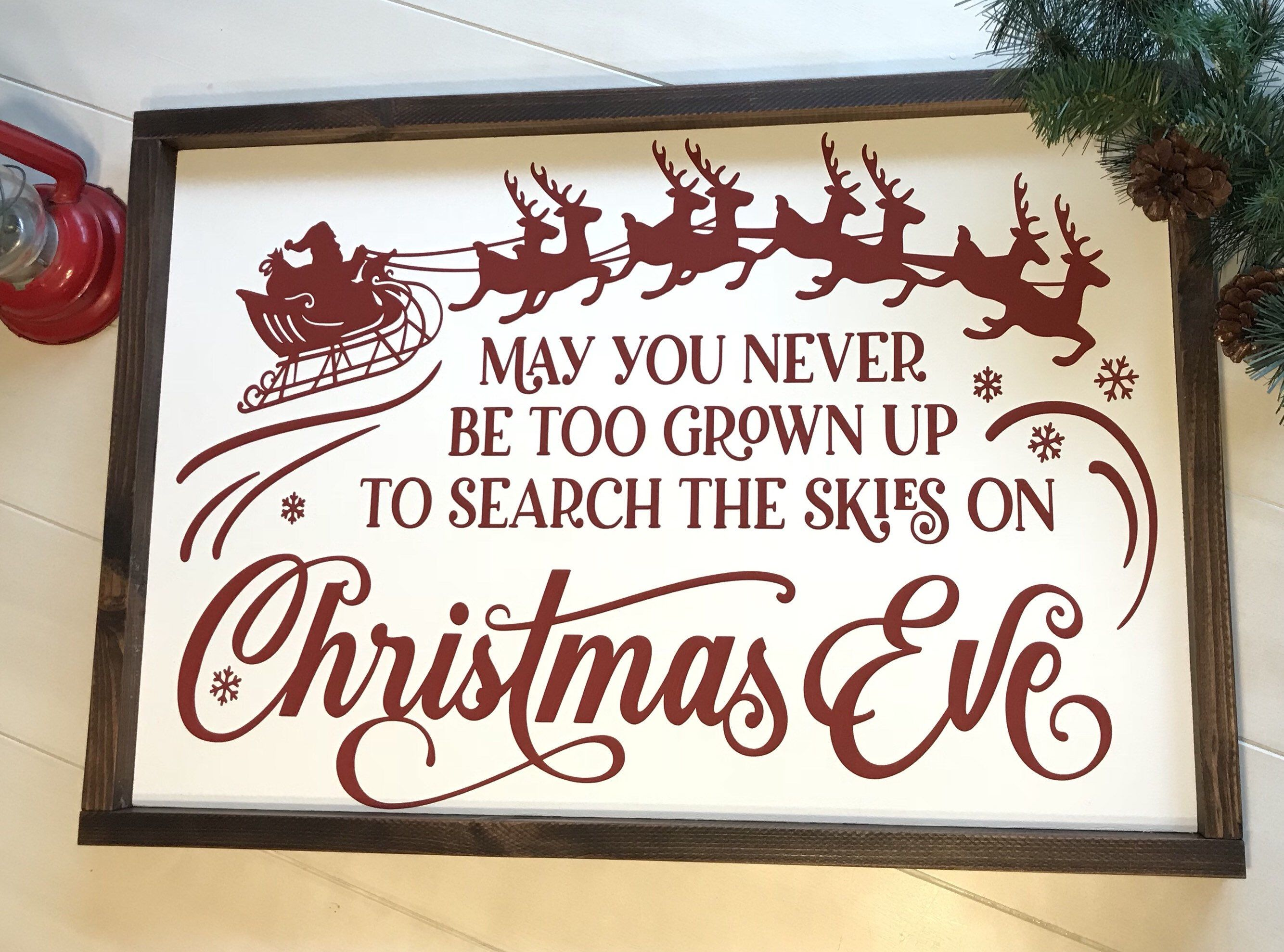 May You Never Be Too Grown Up To Search The Skies On Christmas | Etsy