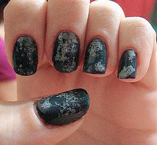 stormy nails  nail art sponging technique  nail art