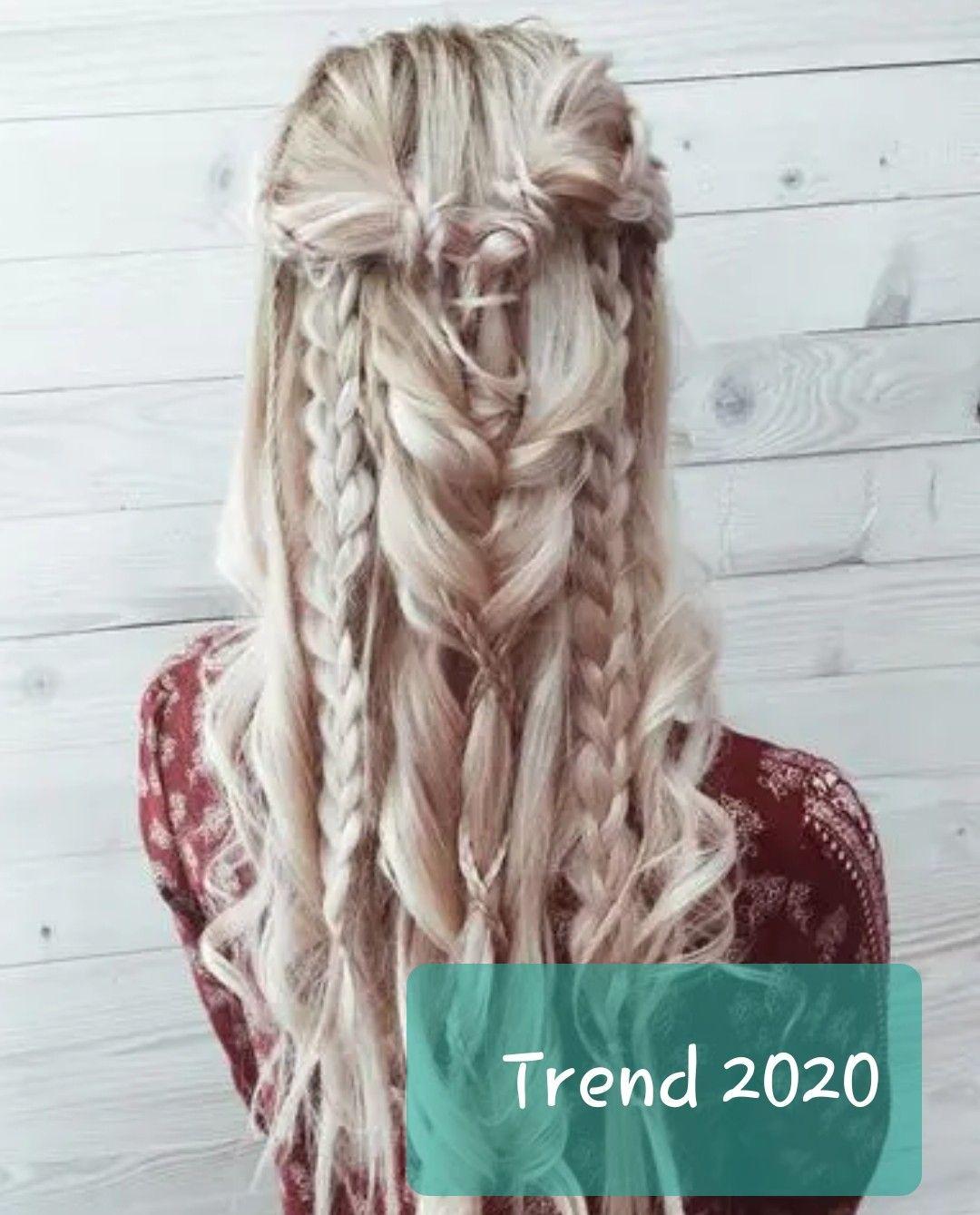 Romantische Frisur Und Styling Flechtfrisur Lange Haare