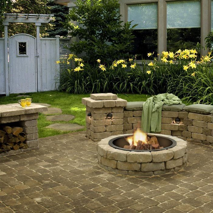 Photo of Fire pit area  Informations About Grass-Free Landscape Ideas Pin  You can easily…