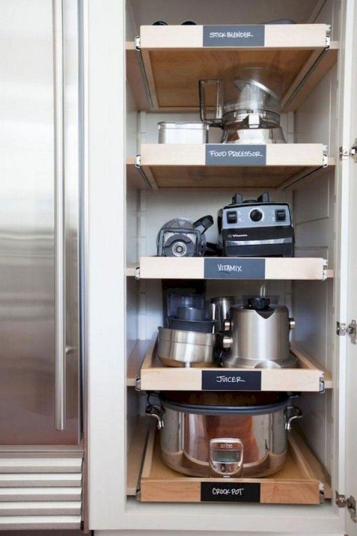 42 Small Kitchen Organization And DIY Storage Ideas #smallkitchenorganization