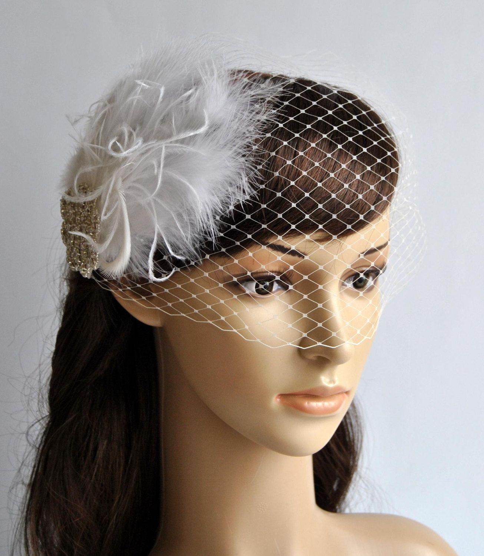 Bandeau veil birdcage veil wedding veil bridal veil
