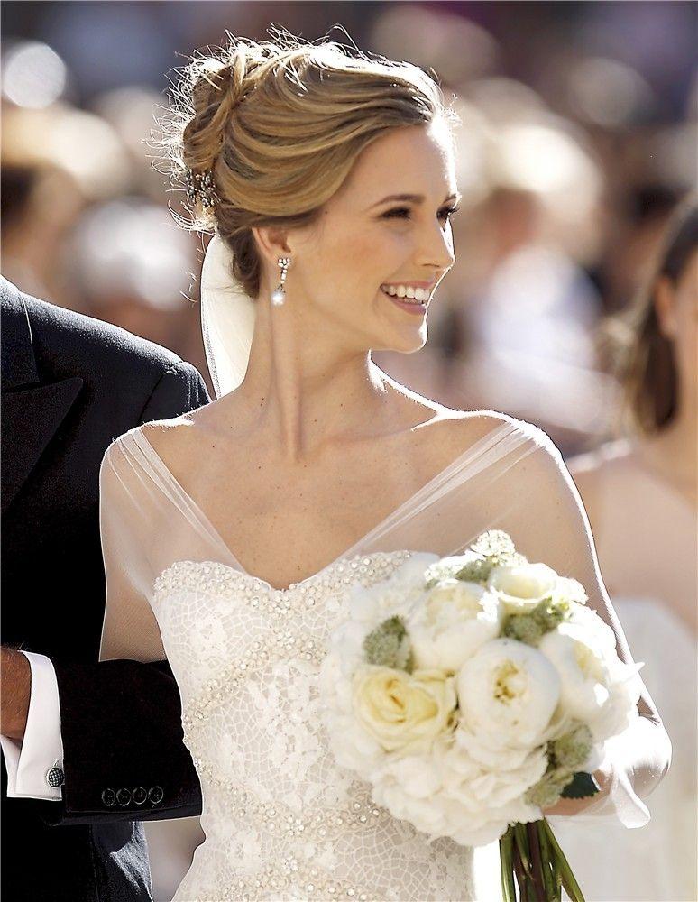 10 peinados de novia de famosas que querr s copiar el d a - Peinados elegantes para una boda ...
