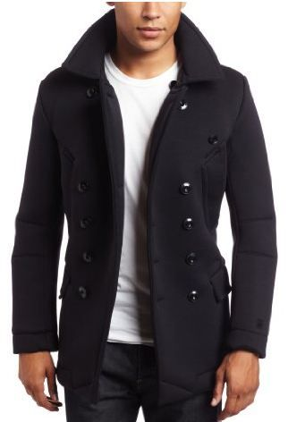 Images of Mens Winter Pea Coats - Reikian