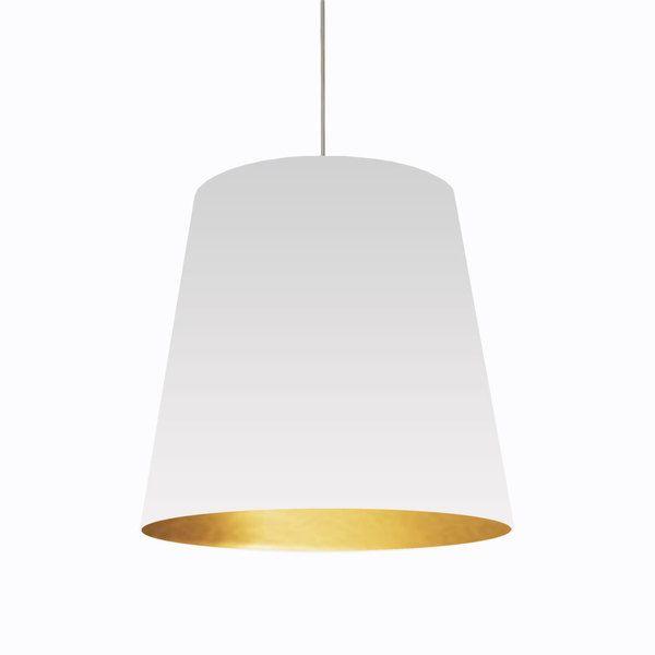 Dainolite 1 light oversized drum pendant with white on gold shade dainolite 1 light oversized drum pendant with white on gold shade in large mozeypictures Choice Image