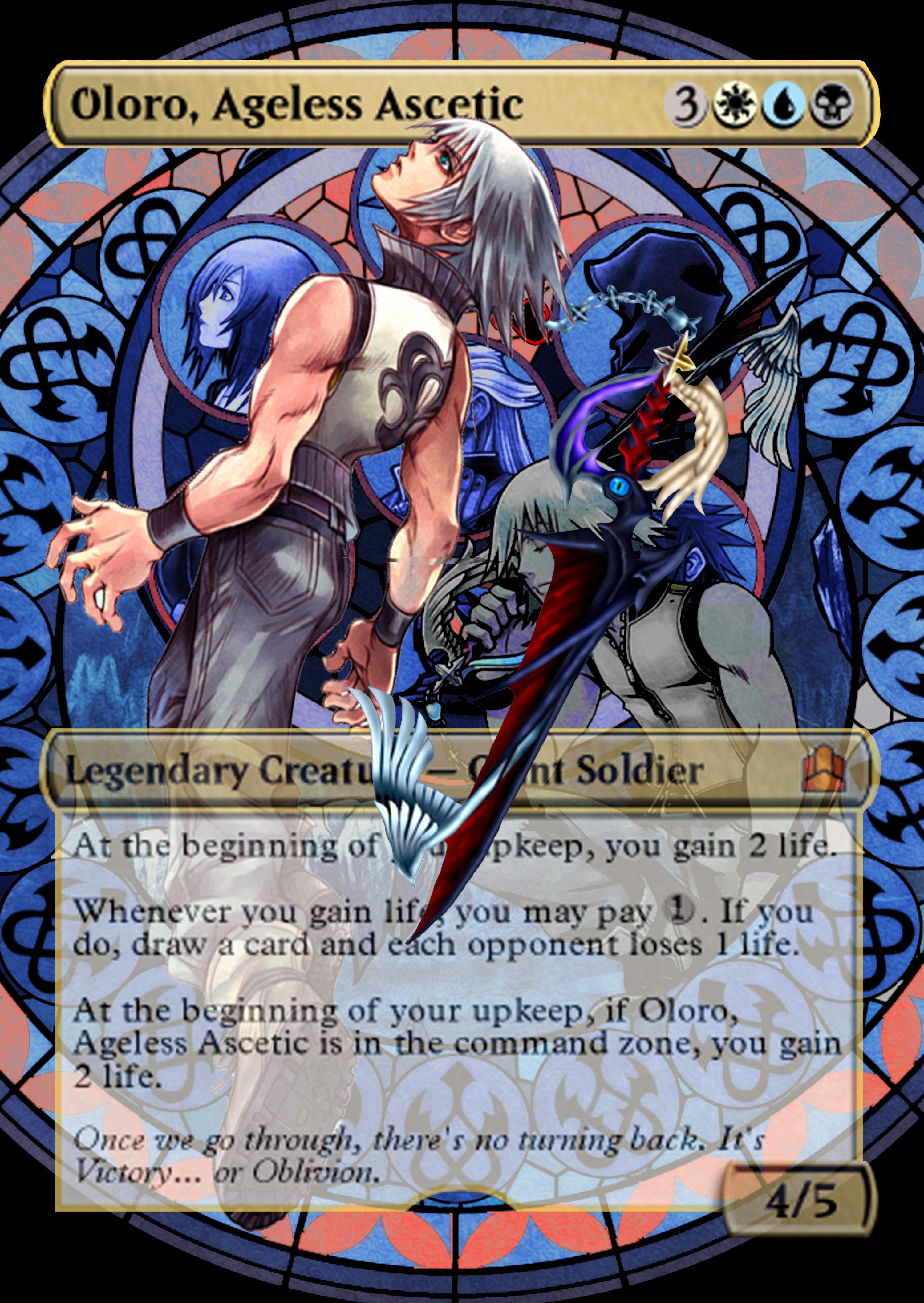 Riku As Oloro Ageless Ascetic Magic The Gathering Proxy Kingdom Hearts Magic The Gathering Cards Magic The Gathering Magic Art