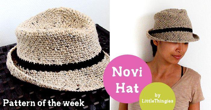 Free crochet fedora hat pattern  afc6e0e9fdb
