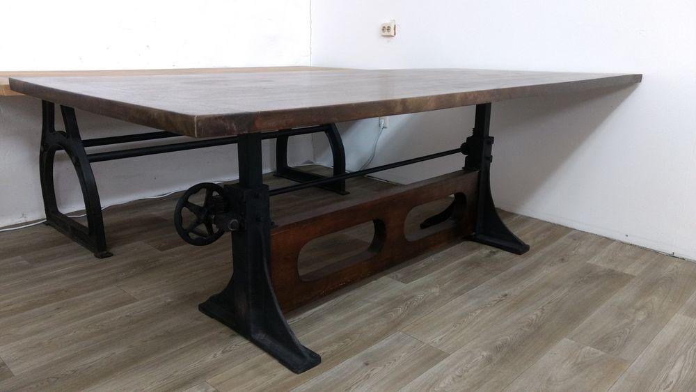 Details zu Esstisch Esszimmer-Tisch Massiv-Holz 220x100 Industrial ...