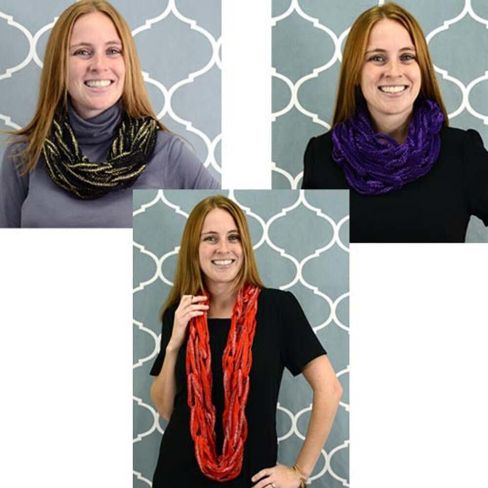 Premier® Flash Arm Knit Cowl Free Download - Starbella ruffle yarn