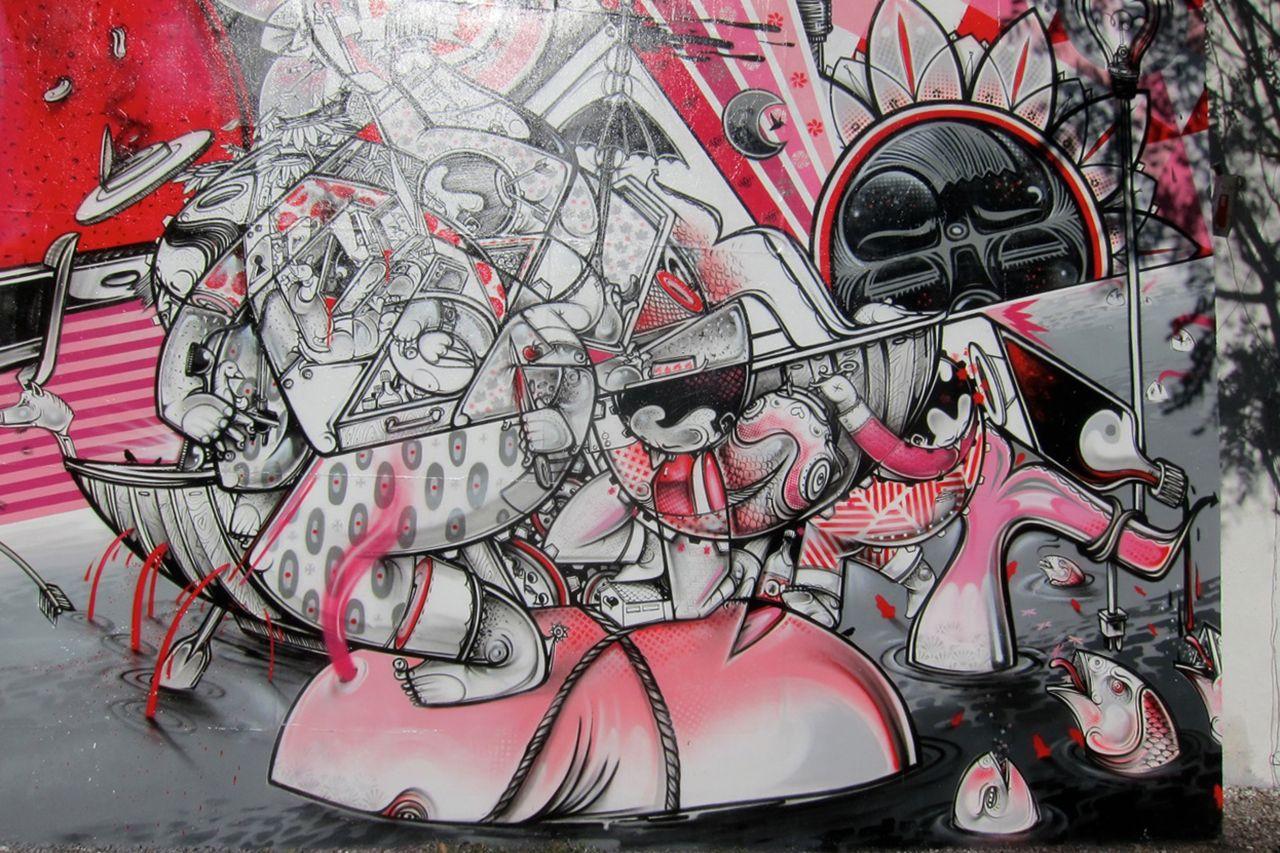 Nosm Mural on Bowery  Houston in New York City