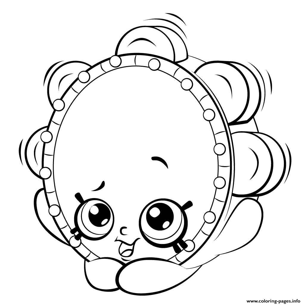 Shopkins coloring pages season 5 shopkins awesome printable coloring - Print Tambourine From Shopkins Shopkins Season 5 Coloring Pages