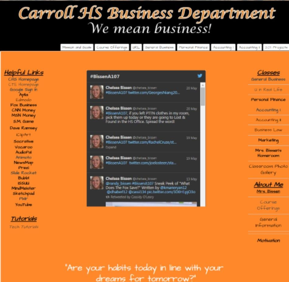 Mrs. Bissen at Carroll HS | General Business, U in Real Life ...