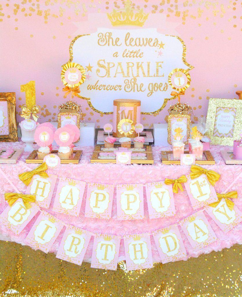 Princess Birthday Princess Backdrop She Leaves Sparkle Party