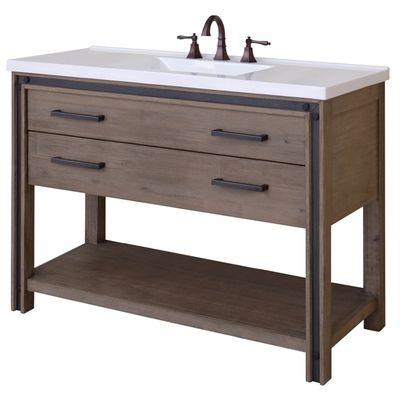 "Best Deal - Sagehill Designs UM4821D Rustic Wood Urban Metallo 48"" Wood Vanity Cabinet"