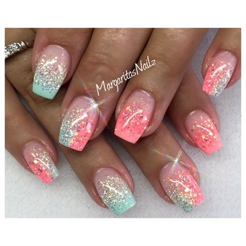 Summer Nails By Margaritasnailz From Nail Art Gallery Summer Gel Nails Beach Nail Designs Gel Nails