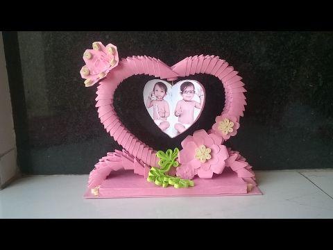 3D origami: flower basket - YouTube   360x480