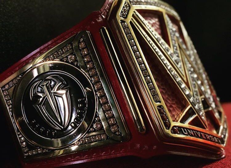 The Universal Championship Belt With Roman Reigns Plates