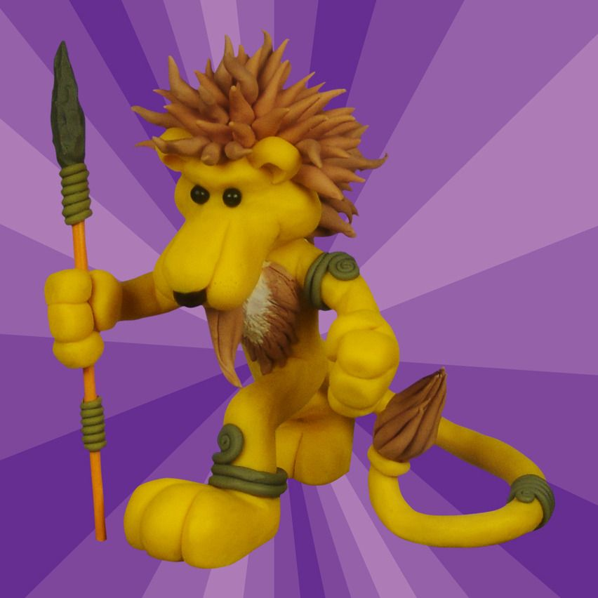 Tribal lion. (made with modeling clay)