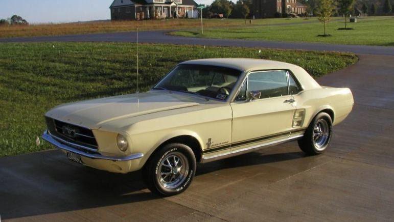 Springtime Yellow 1967 Mustang Hardtop Yellow Mustang 1967 Mustang Mustang