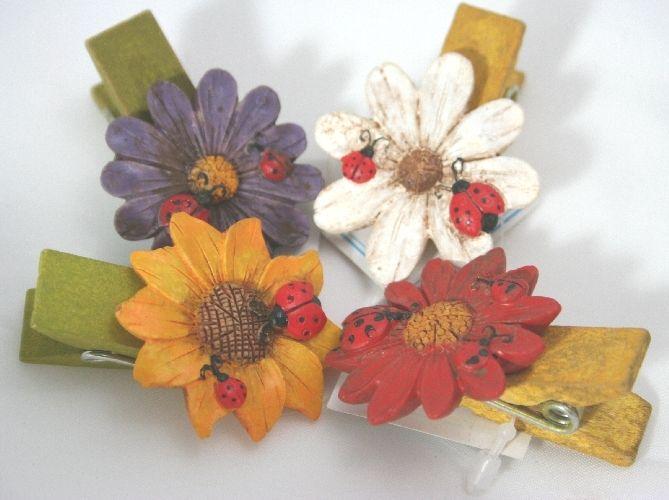 Segnaposto Matrimonio Con Girasoli : Mollette girasoli per decorare o come bomboniera