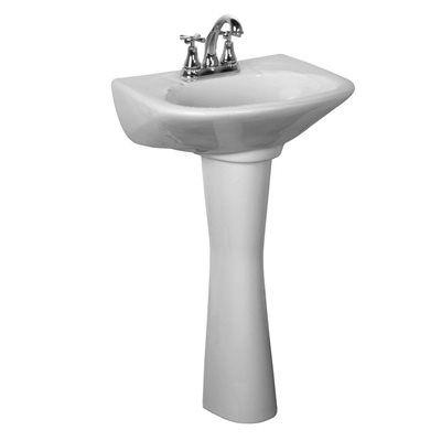 American Standard Bathroom Sink 1105400 020 34 In H White Vitreous China Pedestal Sink Drain Included Sink Drain Sink
