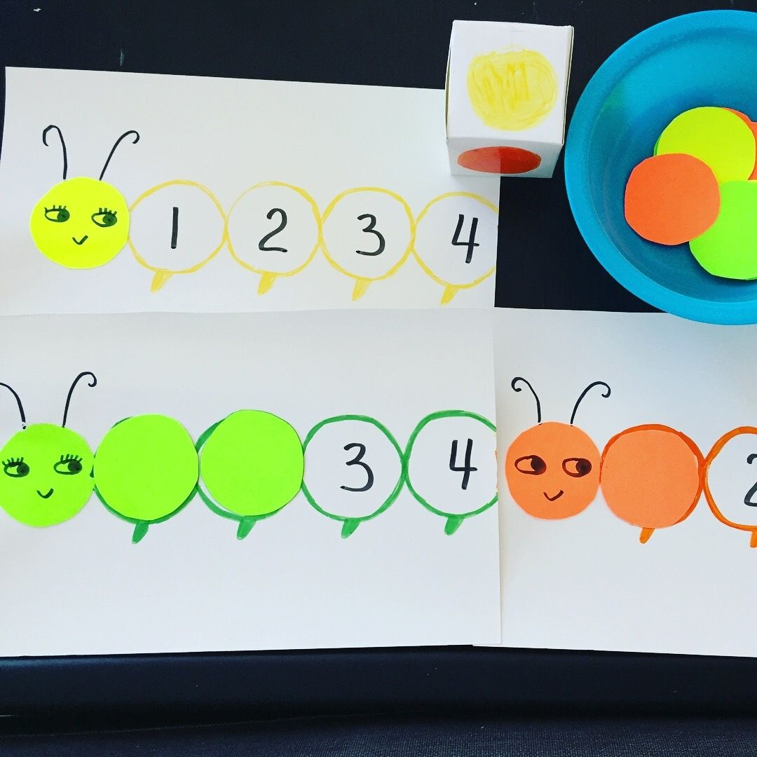 Caterpillar Color And Counting Game Free Printable Activities
