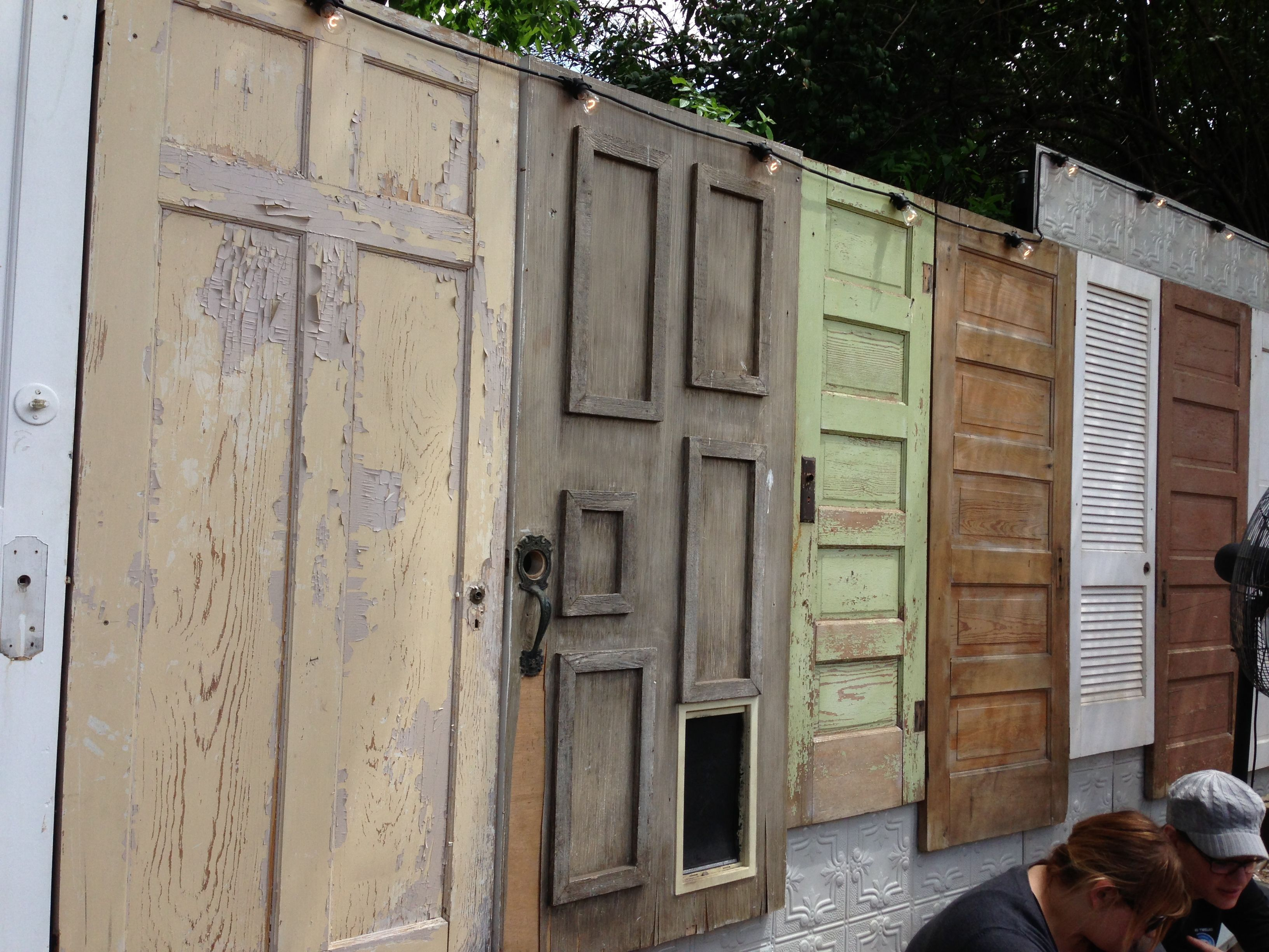 Fences Made From Doors Ask Com Image Search Cheap