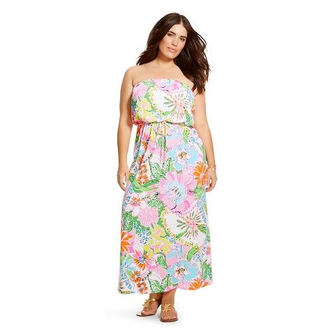 lilly pulitzer for target plus size strapless maxi dress   plus