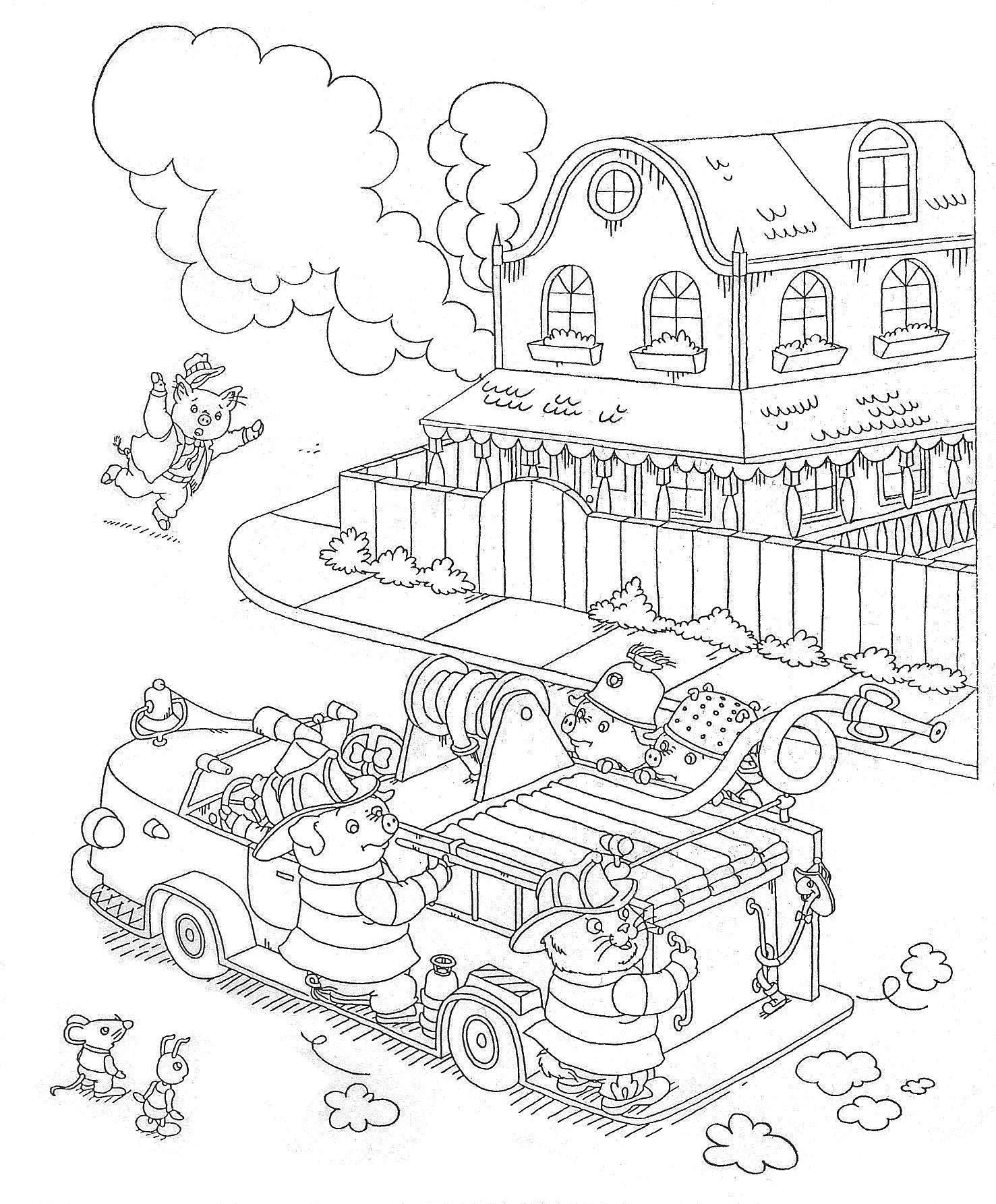 richard scarry halloween coloring pages - photo#6