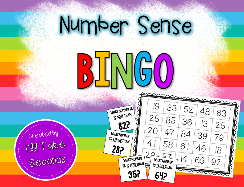 1 More 1 Less 10 More 10 Less Bingo