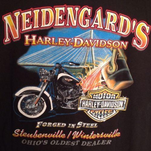 Neidengards of Ohio Harley-Davidson shirt Made in the USA Motorcycle
