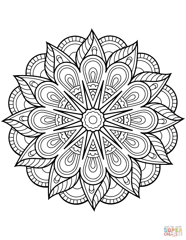 Flower Mandala Coloring Page Printable Coloring Pages In 2020 Flower Coloring Pages Mandala Coloring Pages Mandala Printable