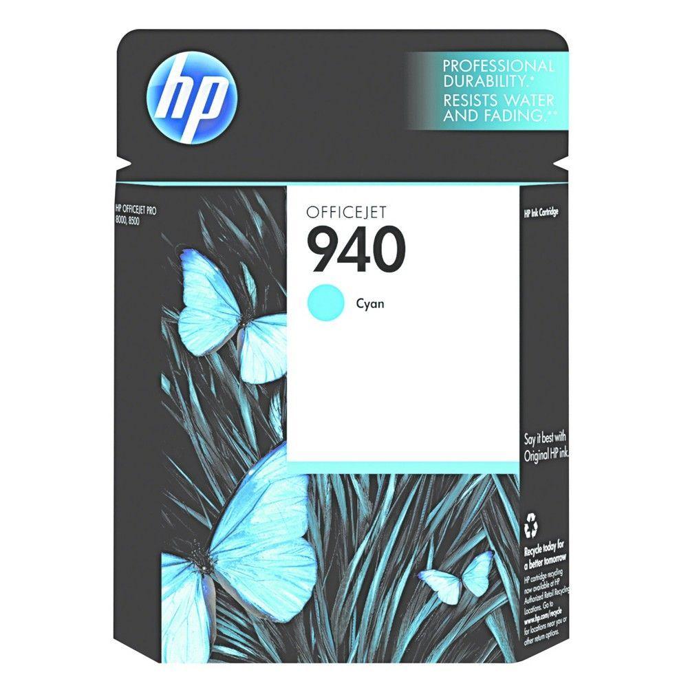 Hp 940 Original Single Ink Cartridge Cyan Hewc4903an Blue