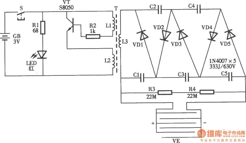 bug zapper circuit schematic