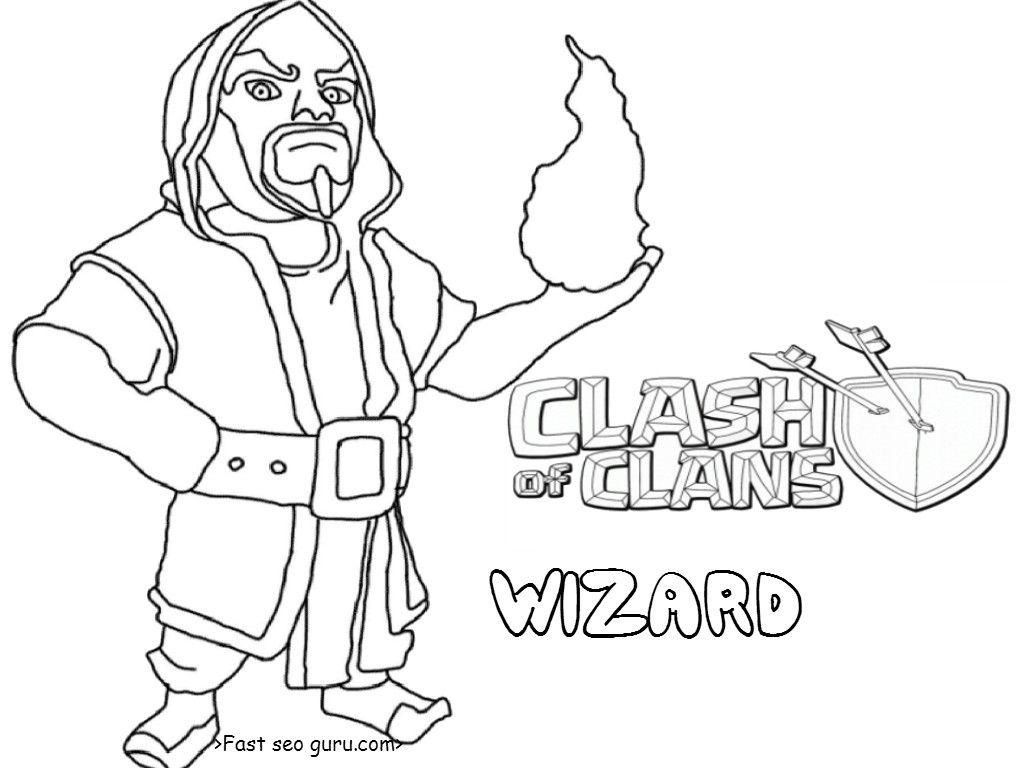 Clash Of Clans Coloring Pages 19 9052 Serapportantà Coloriage Clash