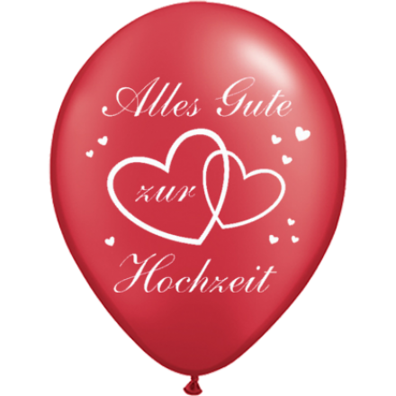 Luftballons Alles Gute Zur Hochzeit O 30 Cm 10 Stuck Luftballons Alles Gute Zur Hochzeit Dekoration Hochzeit