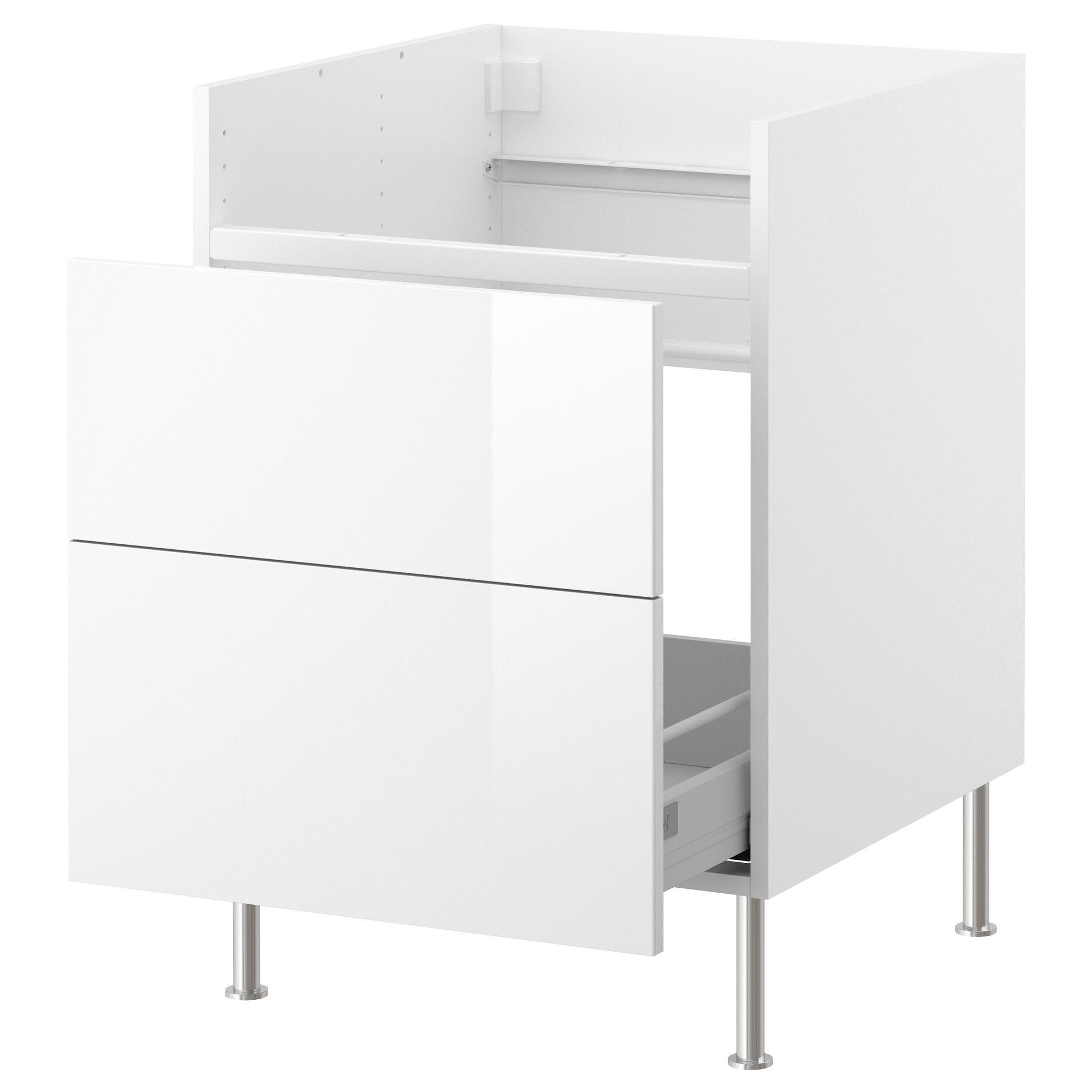 FAKTUM DOMSJÖ星盆用地櫃連1個抽屜 - Abstrakt 白色, 60 厘米 - IKEA ...
