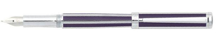 Sheaffer Intensity Deep Violet Striped Barrel and Cap with Chrome Trim Fountain Pen M - Sheaffer